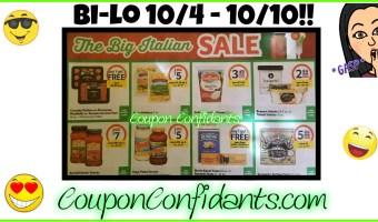 Bi-lo Best Deals 10/4 – 10/10!!