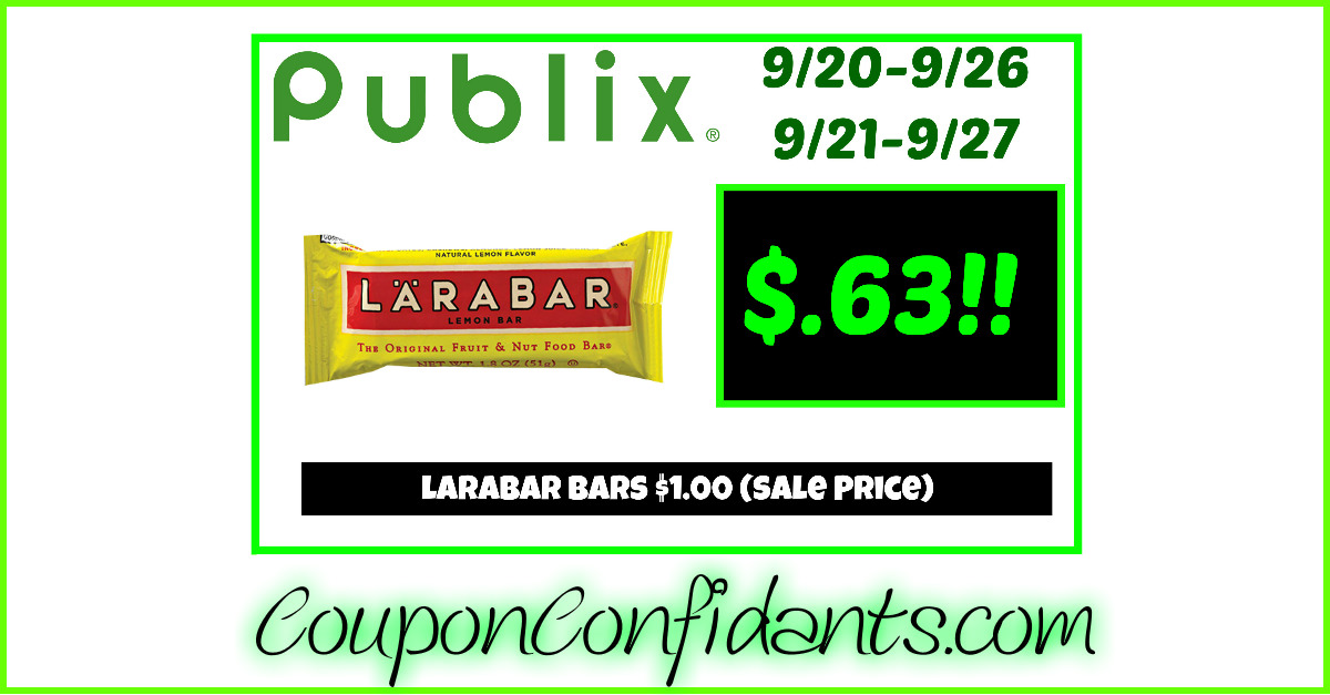 Larabar Bars only $.63! WOW!!