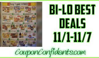 Bi-lo BEST Deals! 11/1 – 11/7