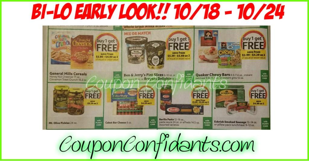 Bi-lo  Best Deals – Early Look!! 10/18 – 10/24