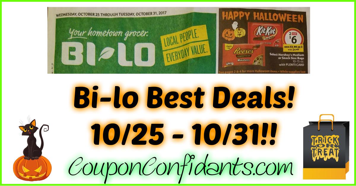 Bi-lo Best Deals 10/25 - 10/31