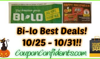 Bi-lo Best Deals 10/25 – 10/31