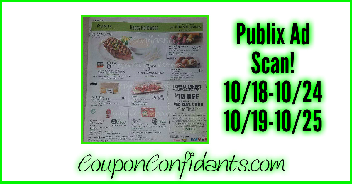 Publix FULL Ad Scan! 10/18-10/24 or 10/19-10/25!