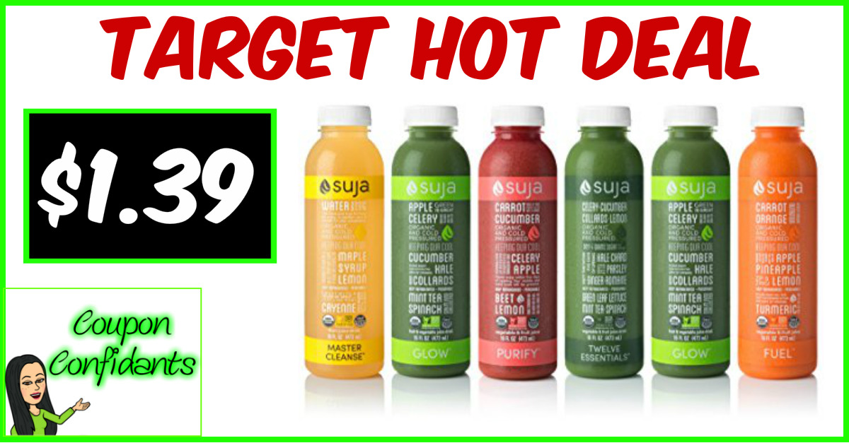 Suja Organic 12 oz only $1.39!