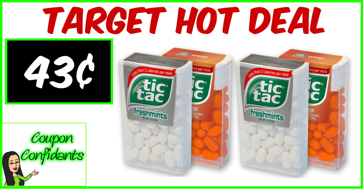 Tic Tacs for only $0.43 at Target!! NICE!
