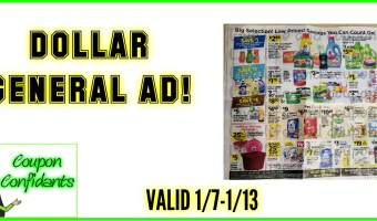NEW Dollar General Ad Scan! 1/7 – 1/13