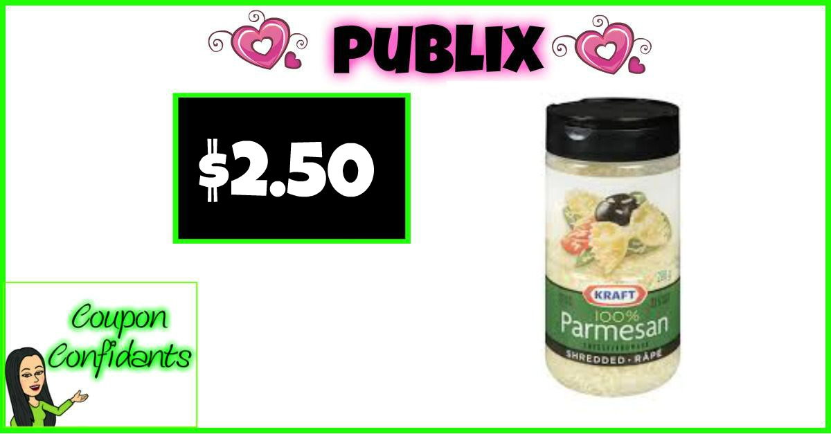 Kraft Grated Parmesan Cheese Only $2.50