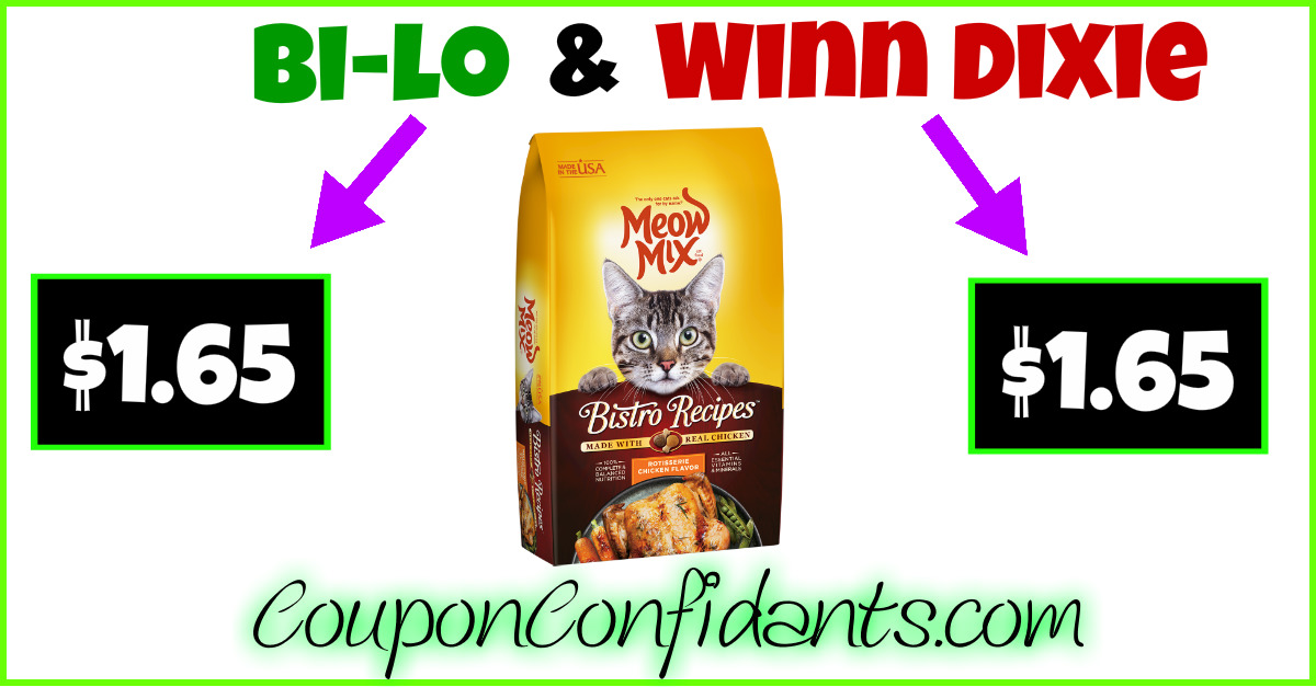 Meow Mix Dry Cat Food only $1.65!!