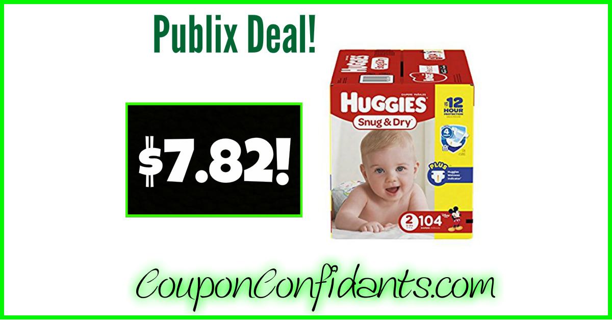 Huggies as low as $7.82 a box!!