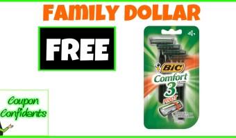 FREE Bic Razors at Family Dollar!
