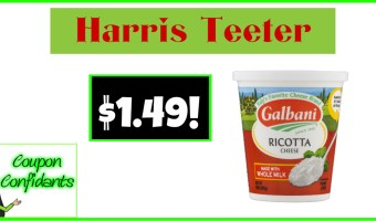 Galbani Ricotta for $1.49 at Harris Teeter!