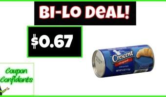 Pillsbury Biscuits, Cinnamon, or Crescent Rolls Only $0.67