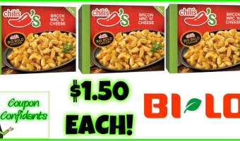 Chili's Entrees $1.50 at Bi-lo (Winn Dixie may follow)