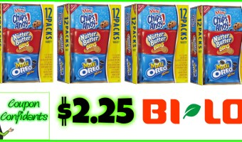 Nabisco Tray Packs only $2.25 at Bi-lo!! (Winn Dixie possibly same)