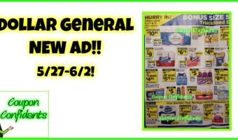 Dollar General Ad Preview 5/27 – 6/2!