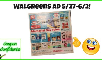 Walgreens Ad 5/27-6/2!!