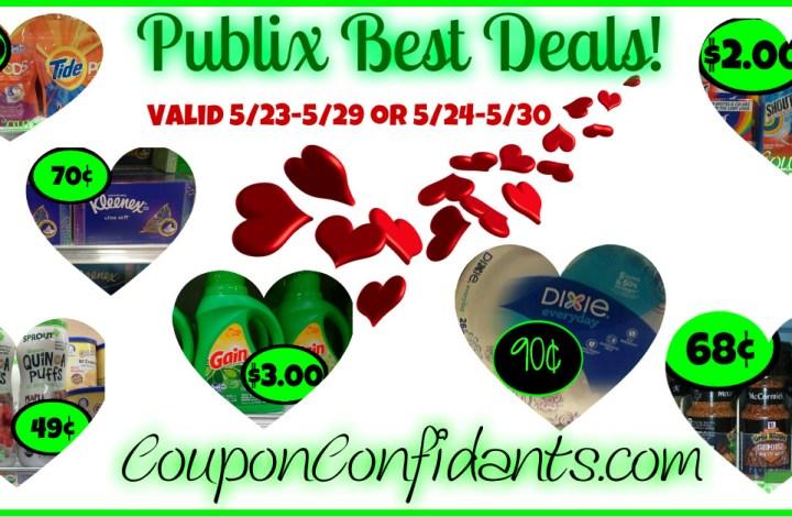 Publix Best Deals 5/23 – 5/29 or 5/24 – 5/30