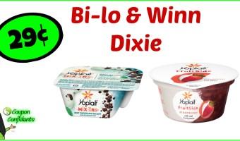 Yoplait Mix-ins or Fruitside Yogurt 29¢ for Bilo (54¢ for Winn Dixie)