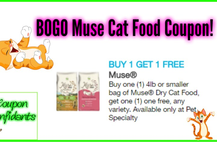 HUGE Muse Cat Food Coupon! $19.99 Value!!