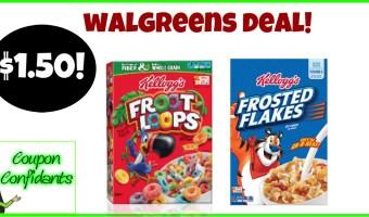 $1.50 Kellogg's Cereals at Walgreens!