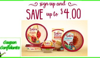 Sign up and Save up to $4.00 on Sabra!!