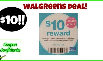 $10 Rewards when you spend $30 Walgreens!