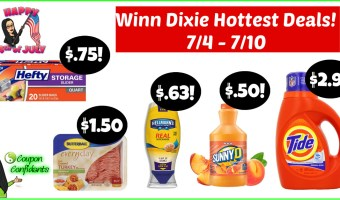 Winn Dixie NEW Weekly Deals! 7/4 – 7/10