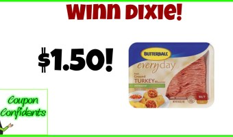 Butterball Ground Turkey at Winn Dixie!! Stock up time!