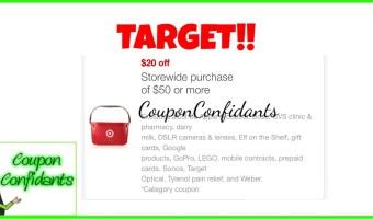 $20/$50 Target Coupon!