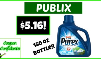 Stock up on the HUGE Bottles of Purex at Publix!