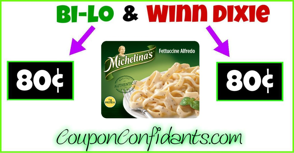 Michelina's Entrees only 80¢ at Winn Dixie and Bilo!