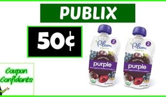 Plum Organics 50¢ each at Publix!