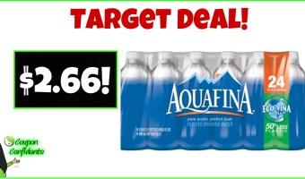 Aquafina 24 pk only $2.66 at Target! WOW!