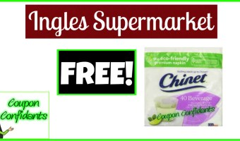 As low as FREE Chinet Napkins at Ingles Supermarkets!