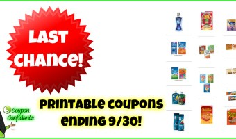 Printable Coupons – Last Chance to print today!