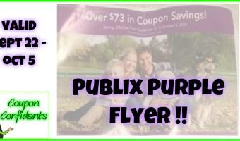 Publix Purple Flyer 9/22 – 10/5