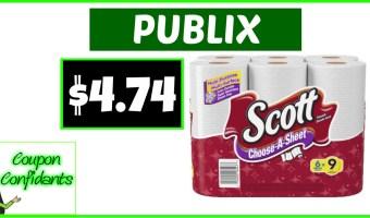 Stock up on Scott Paper Towels at Publix!