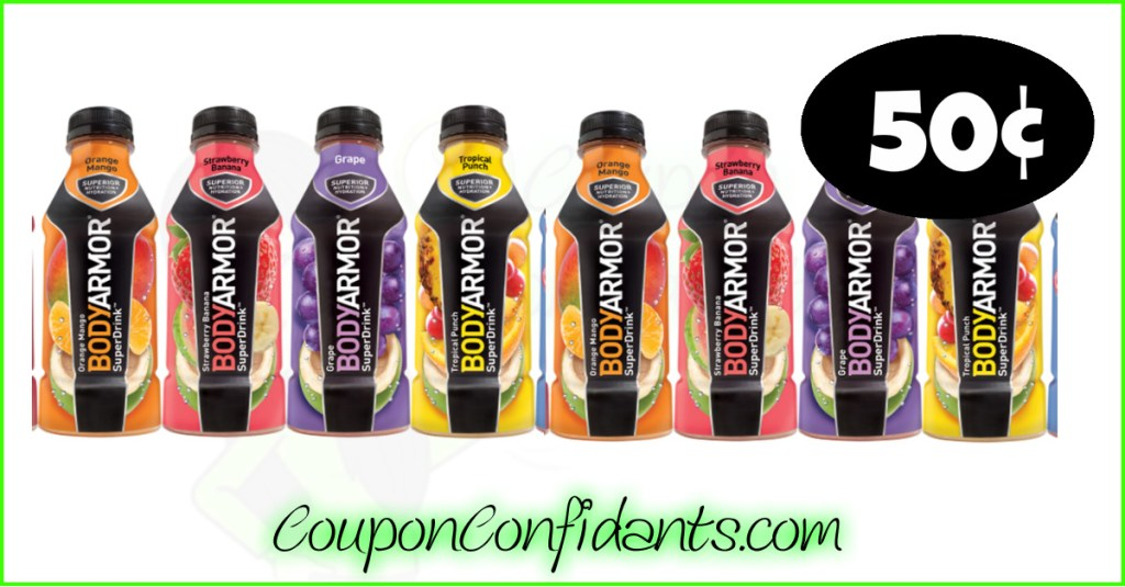 BodyArmor Drinks only $0.50 at Publix!