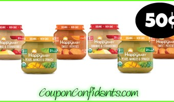 50¢ Happy Baby Food at Publix!!
