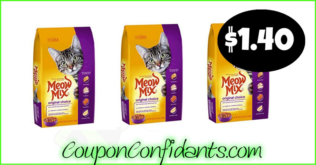 Meow Mix Dry Cat Food $1.40 at Publix!