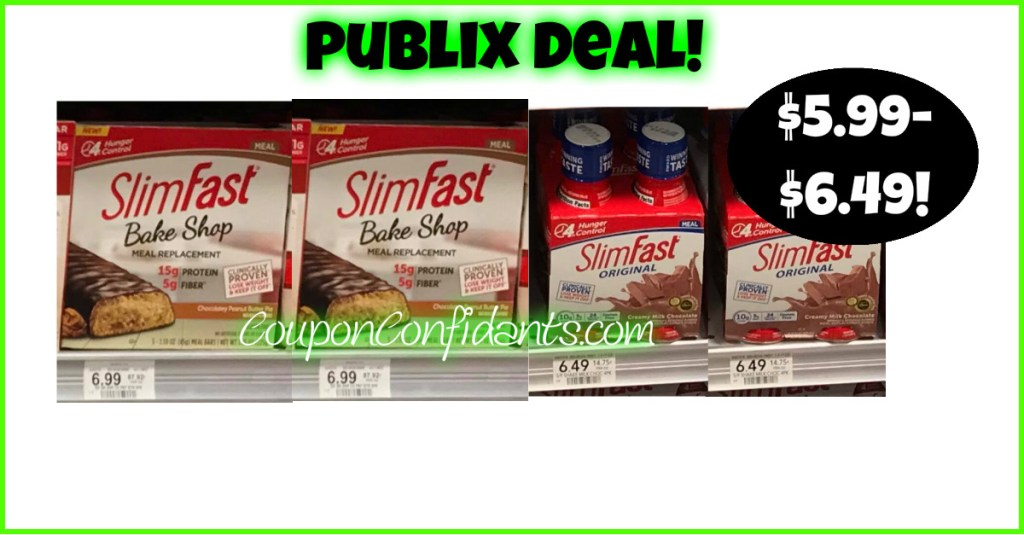 Slimfast Items at Publix! Rare Coupon!