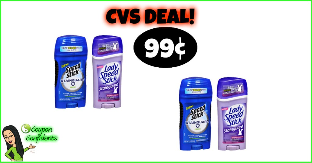 99¢ Deodorant at CVS!