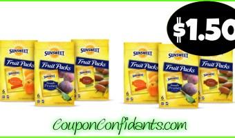 $1.50 Sunsweet Fruit Packs at Publix! NICE!