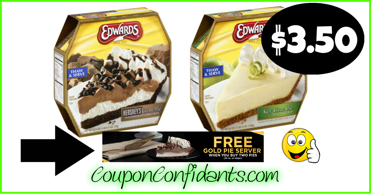 photograph regarding Edwards Pies Printable Coupons identify Oh MY!! No cost gold Pie Server and Low-cost pies at Publix, Winn