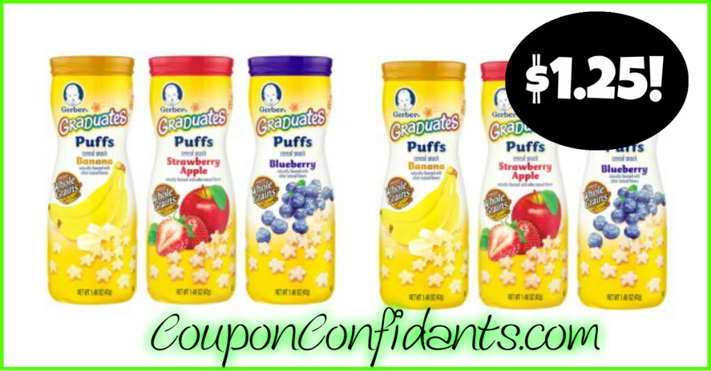 Gerber Snacks for $1.25 at Publix after Sale and Coupon!
