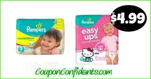 Pampers or Easy ups Diapers only $4.99 at Publix! WOW!