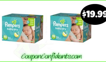 Pamper Diapers only $19.99 at Publix! Stacked Deal!