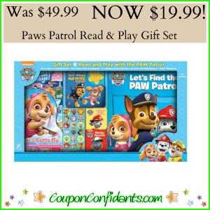 Paw Patrols Read & Play Gift Set – SALE $19.99!