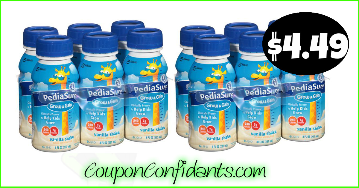 image about Pediasure Printable Coupon identify Pediasure Shakes $4.49 -Triple Stacked Bundle at Publix