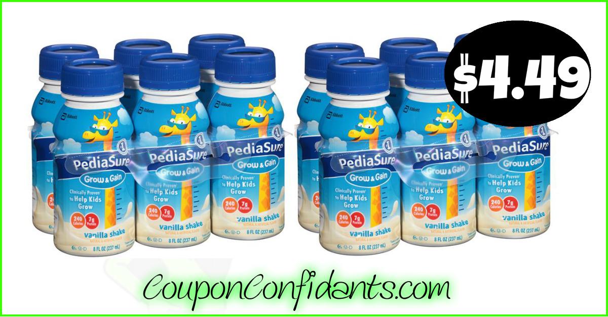 image about Pediasure Printable Coupon identify Pediasure Shakes $4.49 -Triple Stacked Bundle at Publix